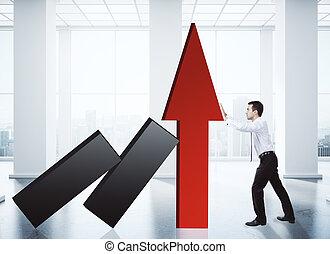 ventes, croissance, concept