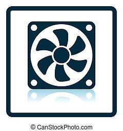 ventilador, ícone