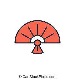 ventilador, aislado, símbolo, plegadizo, vector, icono, ...