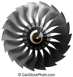 ventilador, avión, motor, moderno,  turbofan