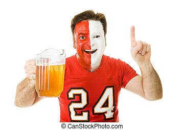 ventilador deportivo, cerveza