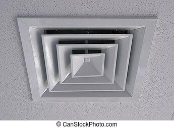 ventilador, extrator, grille, ventilação