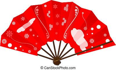 ventilador, japoneses