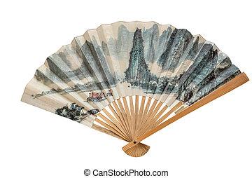 ventilador papel, chino
