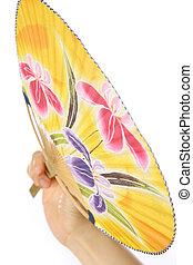 ventilador papel, uchiwa