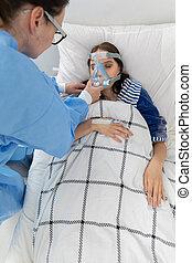 ventilador, properly., tudo, se, doutor, corretamente, ...