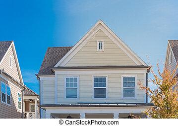ventiladores, apartadero, cabaña, techo, cubierto, estilo, ...