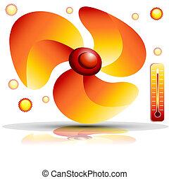 ventilateur, chauffage