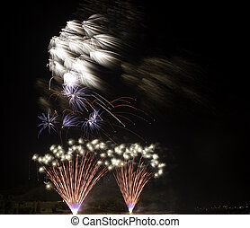 ventilateur, feux artifice