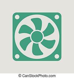 ventilateur, icône