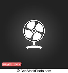 ventilateur, table, vecteur, -, illustration