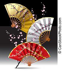 ventilateurs, japonaise