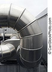 ventilatie, kanaal, groot