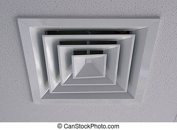 Ventilatierooster witte ventilatie badkamer rooster