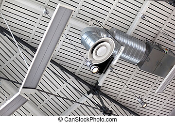 Ventilation and lighting in a modern building