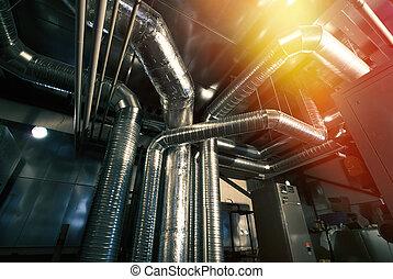 ventilation, betingelse, piparen, luft