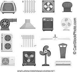 Ventilation Conditioning Heating Set