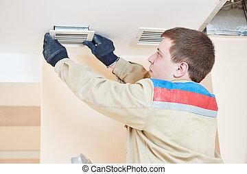 ventilation engineer worker
