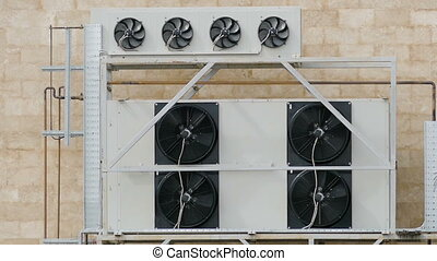 Ventilation equipment with multiple rotary coolers - cooling...