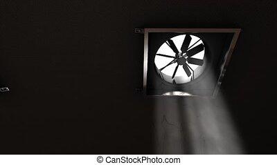 Factory ventilation fan.