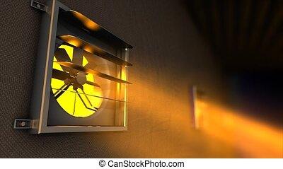 Ventilation fan - Factory ventilation fan.