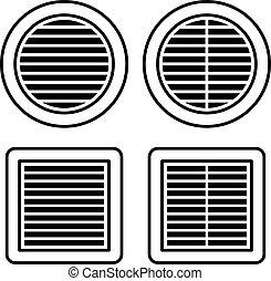 ventilation noir symbole grille toile symbole. Black Bedroom Furniture Sets. Home Design Ideas