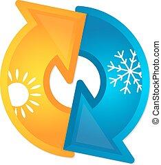 Ventilation home symbol for business