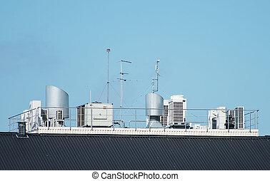ventilation, house., système, toit