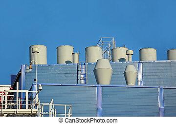 ventilation, industriel, système