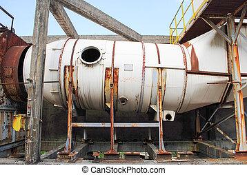 ventilation, industriel, vieux