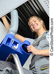 ventilation maintenance worker