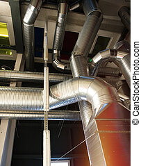 Ventilation pipes and ducts of industrial air condition