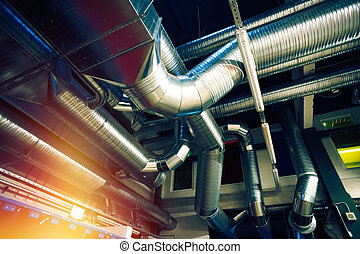Ventilation pipes of an air condition