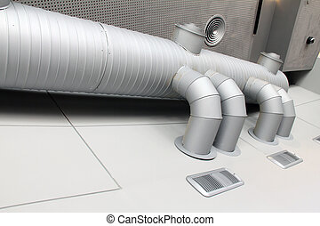 This photograph represents an industrial ventilation system