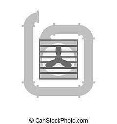 Ventilation vector illustration