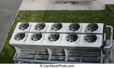 ventilator fan biogas - Ventilator fan spin on industrial...