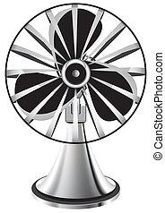 ventilator - fan isolated vector illustration eps 10