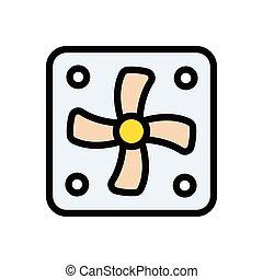 ventilator flat color icon