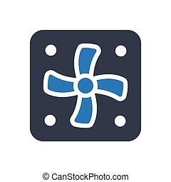 ventilator glyph color icon