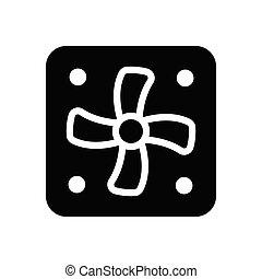 ventilator glyph flat icon