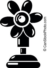 Ventilator icon, simple style. - Ventilator icon. Simple...