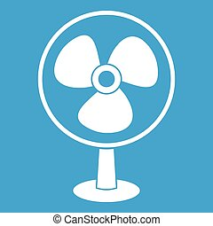 Ventilator icon white isolated on blue background vector...