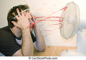ventilator, mann