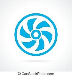 Ventilator screw icon - Ventilator screw vector icon