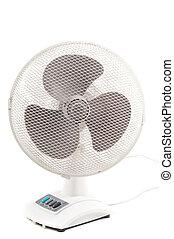 Ventilator - Shot of electrical ventilator isolated on white
