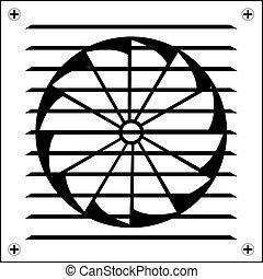 Ventilator symbol icon. Emblem