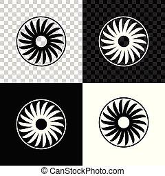Ventilator symbol icon isolated on black, white and transparent background. Ventilation sign. Vector Illustration