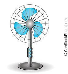 ventilator, tafel, vector, -, illustratie