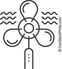 ventilator thin line black icon. concept of simple shape,...
