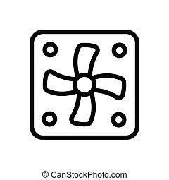ventilator thin line icon